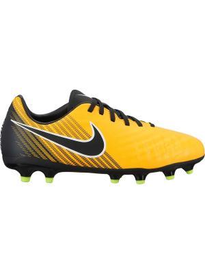 Бутсы JR MAGISTA ONDA II FG Nike. Цвет: оранжевый, белый, черный