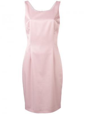 Платье без рукавов со складками D.Exterior. Цвет: розовый и фиолетовый