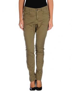 Повседневные брюки MICHIKO KOSHINO. Цвет: зеленый-милитари