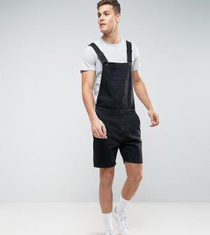 Noak Черный джинсовый комбинезон-шорты. Цвет: черный