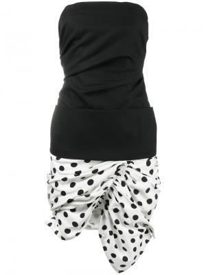 Платье без бретелек La Robe Gitan Jacquemus. Цвет: чёрный