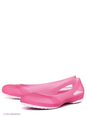 Балетки CROCS. Цвет: фуксия, розовый