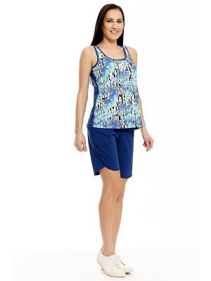 Копмлект с шортами RELAX MODE. Цвет: синий