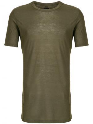 Sheer short sleeved T-shirt Thom Krom. Цвет: зелёный