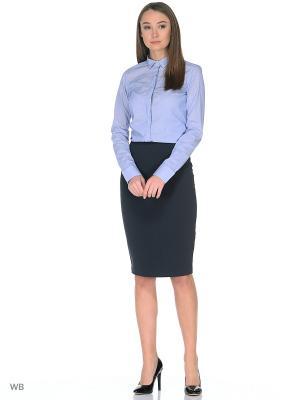 Рубашка MERCEDES-BENZ. Цвет: голубой