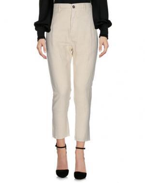 Повседневные брюки NOVEMB3R. Цвет: слоновая кость