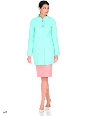 Пальто FORTUNA. Цвет: светло-зеленый