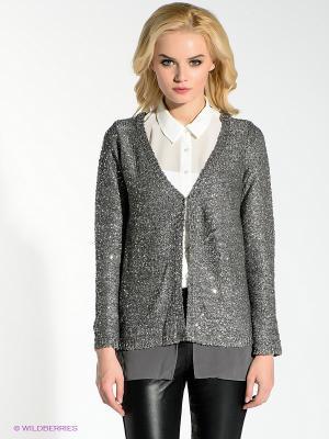 Кардиган Vero moda. Цвет: серый, серебристый
