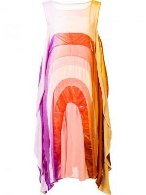 Расклешенное платье с радужным принтом Tsumori Chisato. Цвет: многоцветный