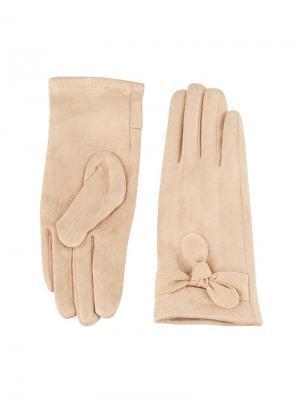 Перчатки Sabellino. Цвет: бежевый