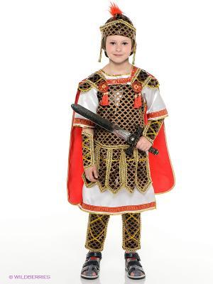Карнавальный костюм ГЛАДИАТОР Батик. Цвет: золотистый, красный
