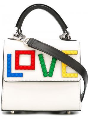 Сумка-тоут Rainbow Love Les Petits Joueurs. Цвет: белый