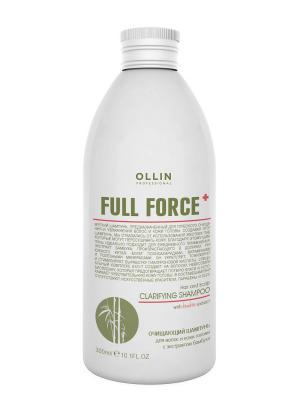 Очищающий шампунь для волос и кожи головы с экстрактом бамбука 300 мл Ollin Professional. Цвет: прозрачный