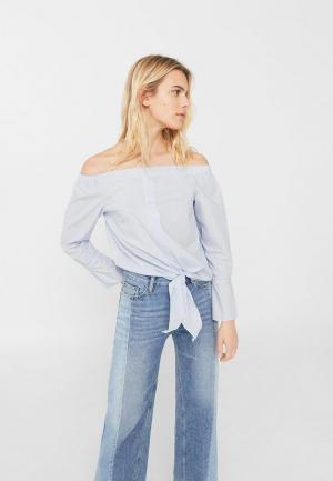 Блуза Mango. Цвет: голубой