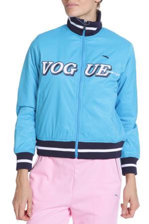 Куртка спортивная ANTA. Цвет: голубой