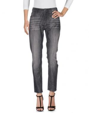 Джинсовые брюки REBEL QUEEN. Цвет: свинцово-серый