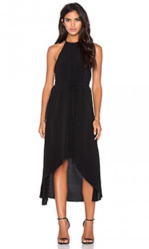 Платье-тюльпан celine LA Made. Цвет: черный
