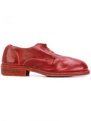 Lace-up shoes Guidi. Цвет: красный