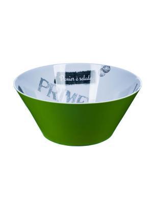 Салатник  d24,5 x 10,5см, Игра слов Orval. Цвет: зеленый, белый