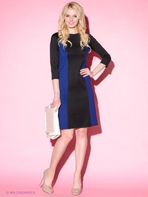 Платье Colambetta. Цвет: черный, синий