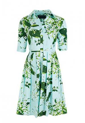 Платье SAMANTHA SUNG. Цвет: голубой