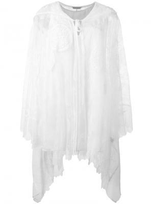 Объемная кружевная блузка Tsumori Chisato. Цвет: белый
