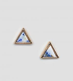 Reclaimed Vintage Треугольные золотистые серьги-гвоздики эксклюзивно д. Цвет: серебряный