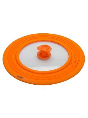 Крышка силиконовая Regent inox. Цвет: оранжевый