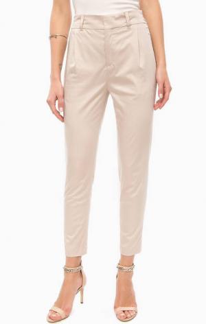 Бежевые брюки с карманами DRYKORN. Цвет: бежевый