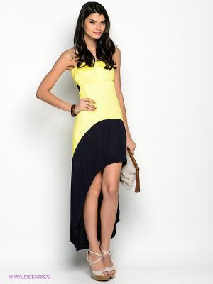 Платье F5. Цвет: темно-синий, желтый