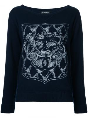 Long sleeve sweater Chanel Vintage. Цвет: синий