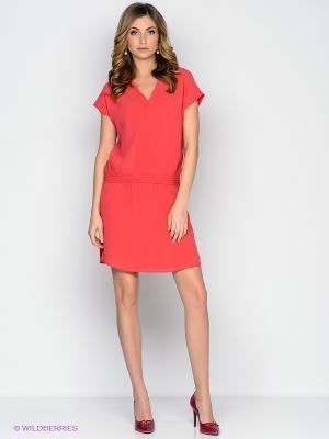 Платье Vis-a-vis. Цвет: коралловый