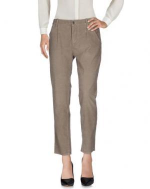Повседневные брюки TAKE-TWO. Цвет: голубиный серый
