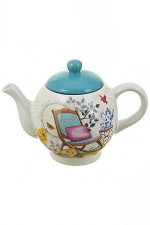 Чайник, 1100 мл Nouvelle. Цвет: белый, голубой, красный