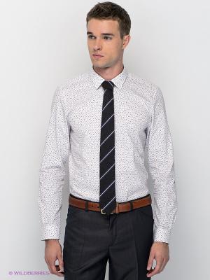 Рубашка MONDIGO. Цвет: белый, темно-синий, красный