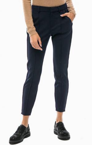 Синие трикотажные брюки s.Oliver. Цвет: синий