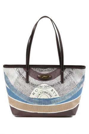 Bag Gattinoni. Цвет: brown, white, blue