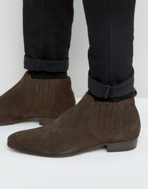 Hudson London Замшевые ботинки челси Zelus. Цвет: коричневый