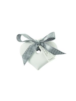 Ароматическая гипсовая подвеска Сердце, аромат Секрет Mathilde M. Цвет: белый, черный