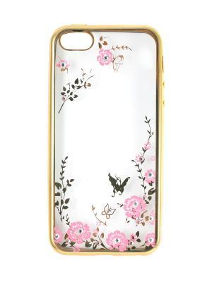Чехол для iphone6 золотистыйс бабочками арт. iphone046-PF JD.ZARZIS. Цвет: золотистый