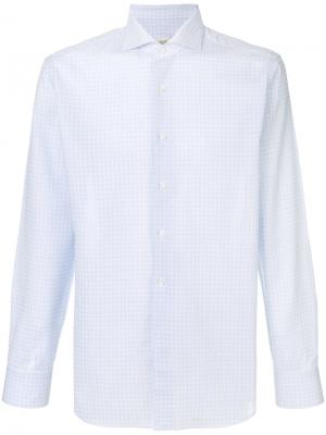 Windowpane check shirt Alessandro Gherardi. Цвет: синий