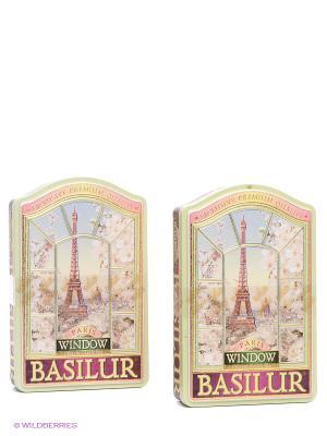 Набор Чай Basilur ОКНА Париж/Paris 100г.*2. Цвет: малиновый, зеленый
