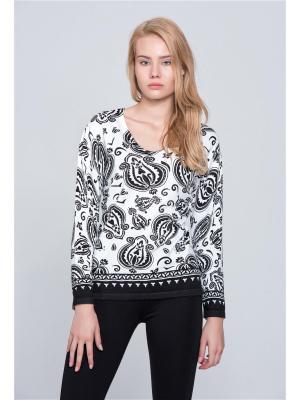 Пуловер Sempre. Цвет: белый, черный