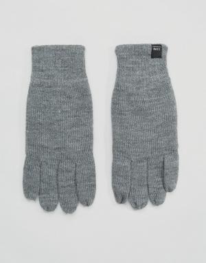 Jack & Jones Перчатки для сенсорного экрана. Цвет: серый