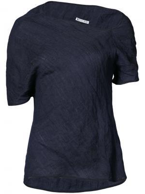 Асимметричная блузка Maticevski. Цвет: синий