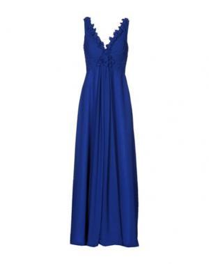 Длинное платье MUSANI COUTURE. Цвет: синий