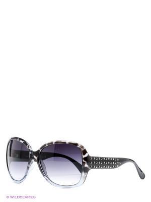 Солнцезащитные очки United Colors of Benetton. Цвет: светло-серый, черный