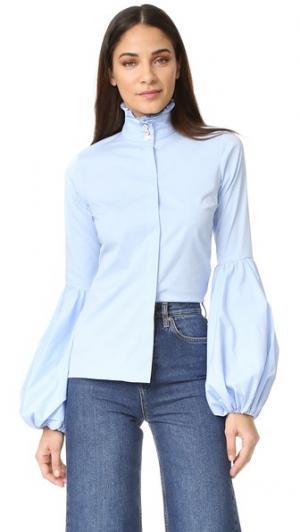 Блуза Jacqueline Caroline Constas. Цвет: светло-голубой