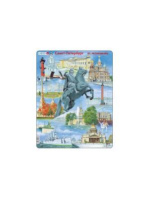 Пазл Санкт-Петербург LARSEN AS. Цвет: голубой, оранжевый, желтый, белый, синий, зеленый