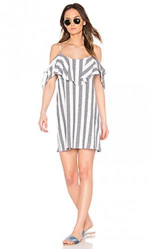 Платье nicolette MISA Los Angeles. Цвет: серый